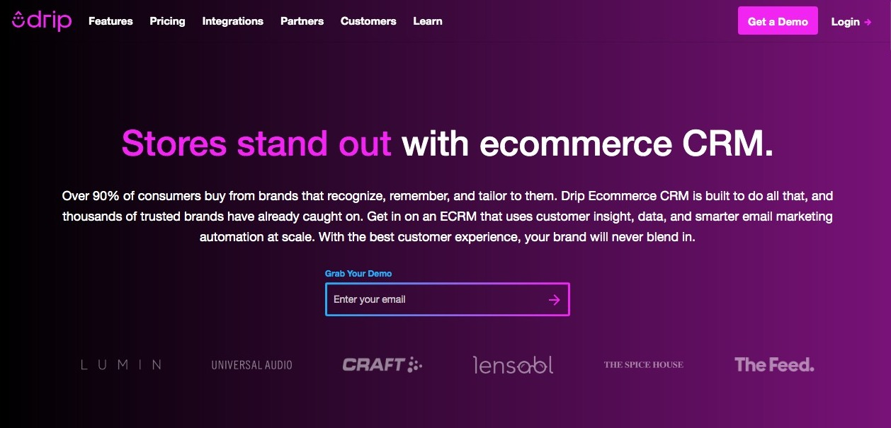 drip home page