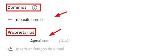 definir domínio e proprietários de instalação do google recaptcha