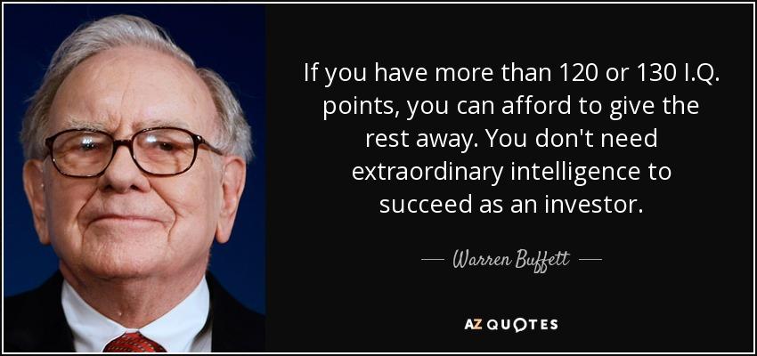 Citação de Warren Buffett.