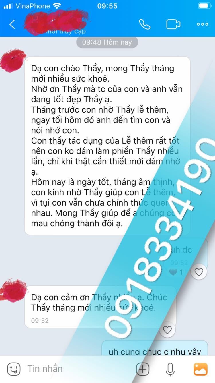 Bùa yêu Bình Thuận do thầy Pá Vi luyện rất nhanh cho kết quả cao