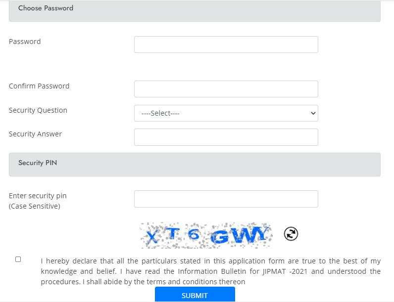 JIPMAT 2021 Password