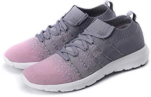 Best walking shoes: PresaNew Women's Walking Shoes Slip-On Athletic Running Sneakers Knit Mesh Comfortable Work Shoe