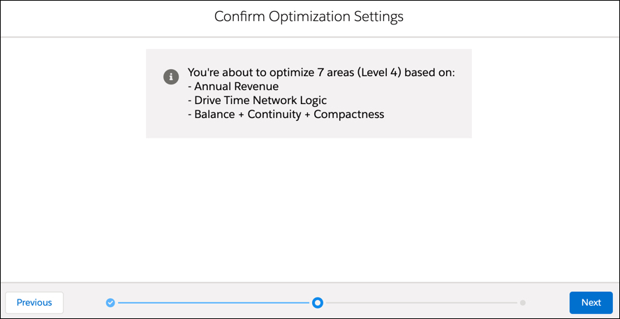 In the Confirm Optimization Settings menu box, the optimization selections are listed and ready to be confirmed by selecting the Apply button on the bottom right.