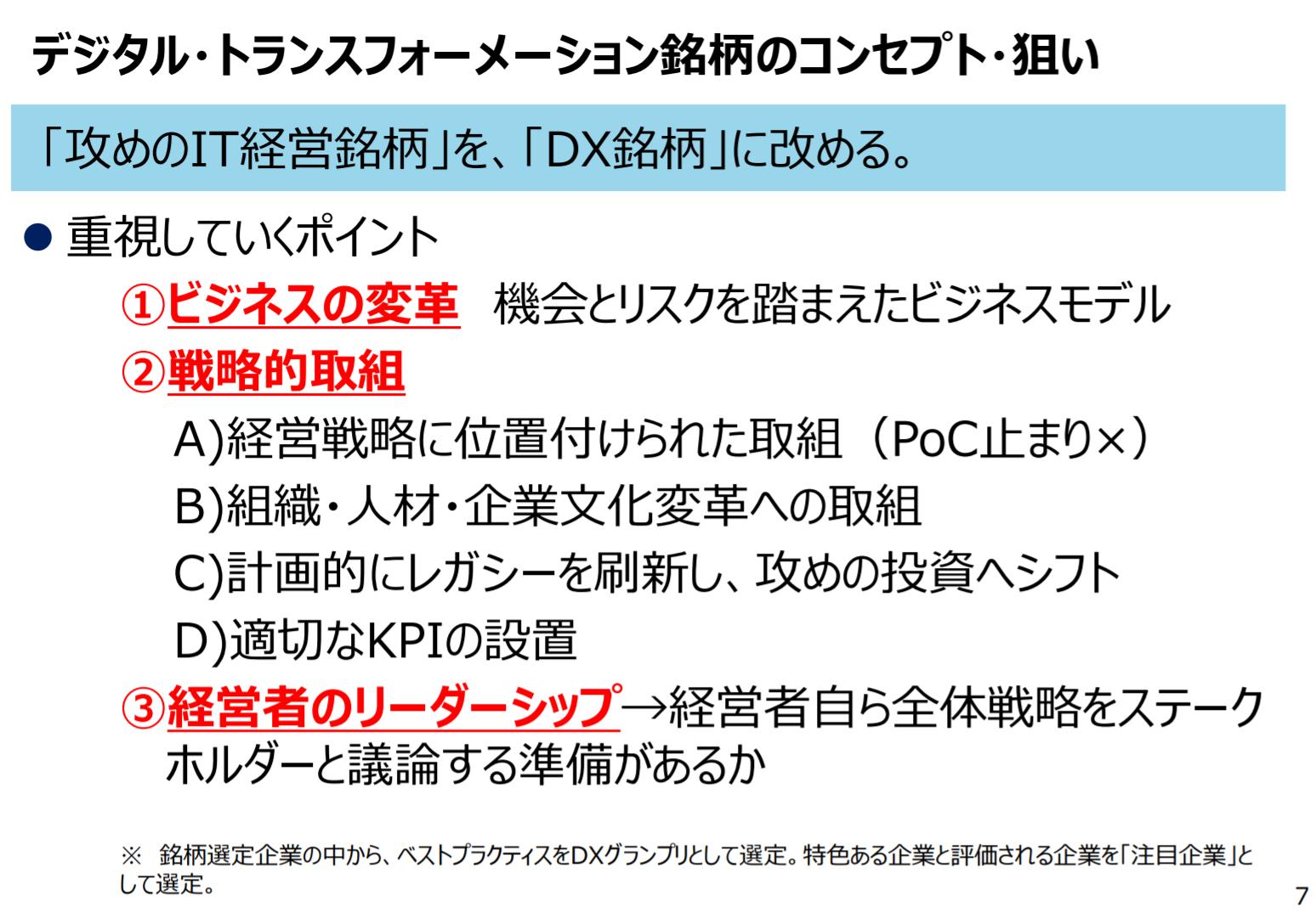 DXを巡る状況とデジタルトランスフォーメーション銘柄(DX銘柄)の狙い