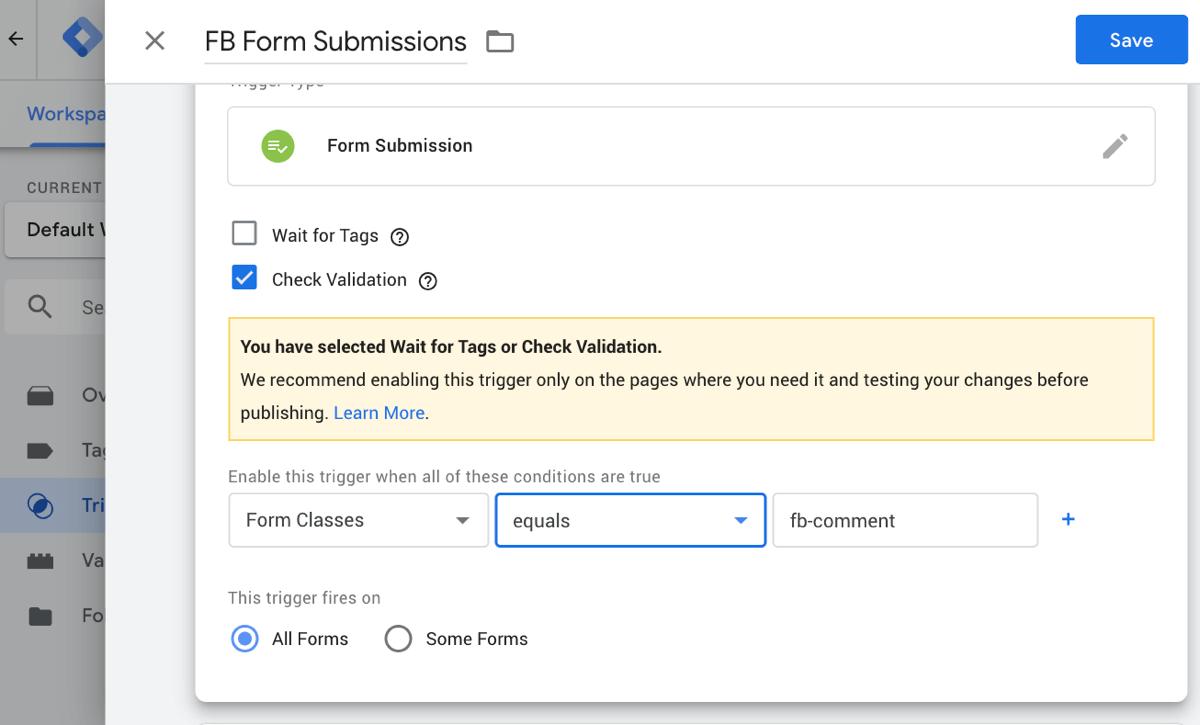 Sửa đổi Google tag manager