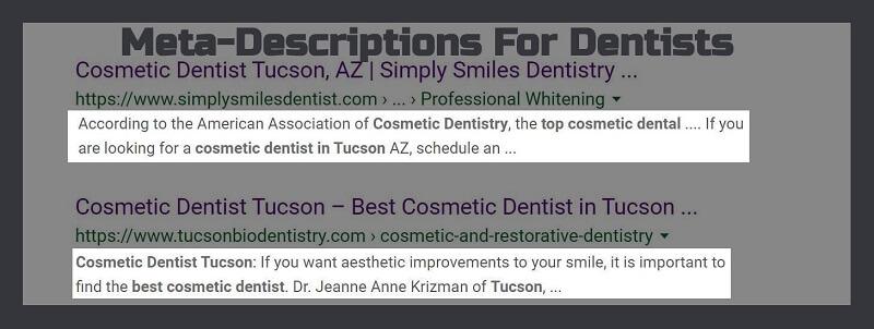 Meta-Description Best Practices for dentists