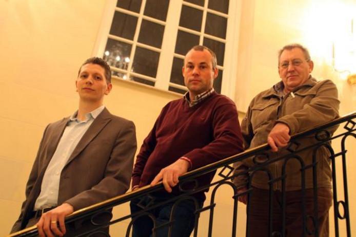 De drie SP-raadsleden Thomas Rijs, Johan Luijendijk en Jan Rietman