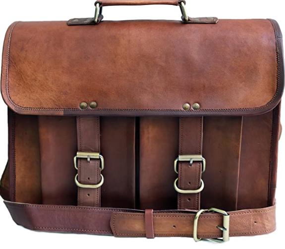 """15"""" leather messenger bag 