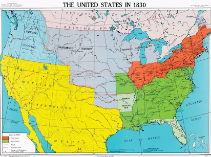 Map Of Us 1830 Map of the USA 1607 1830