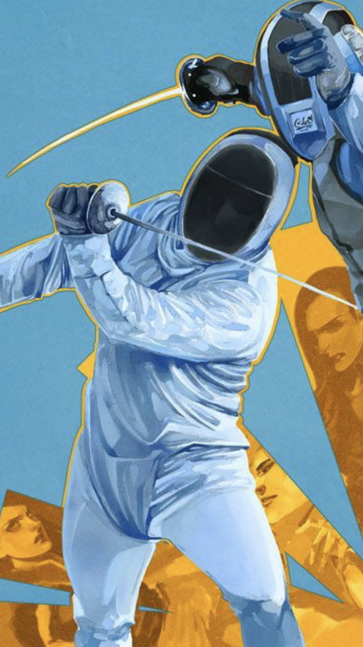 Blue and Yellow fencers - 50+ Amazing Smartphone Fencing  Backgrounds