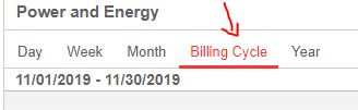 Click on billing cycle