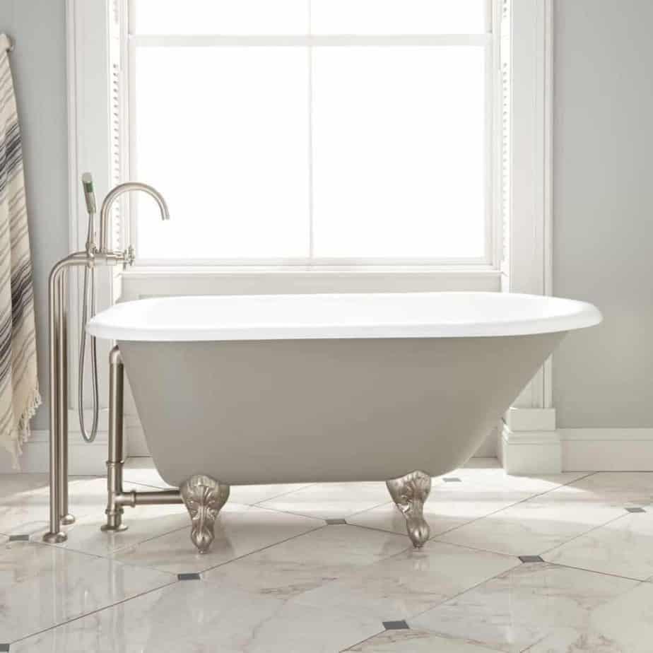 miya cast iron clawfoot tub