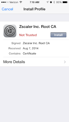 Zscaler Certificates on iOS Devices