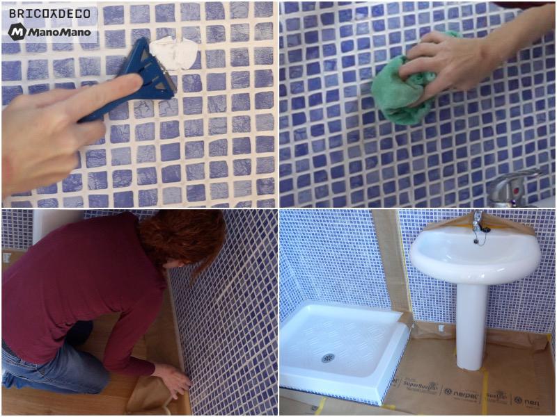 preparar la superficie antes de pintar los azulejos