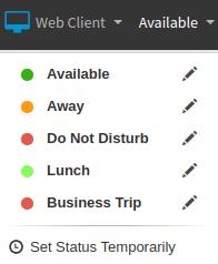 Status beheren in 3CX Web Client