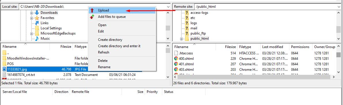 Cara menggunakan FTP FileZilla image 5