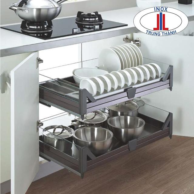 Lựa chọn phụ kiện tủ bếp đa năng tiện dụng hơn nhiều.