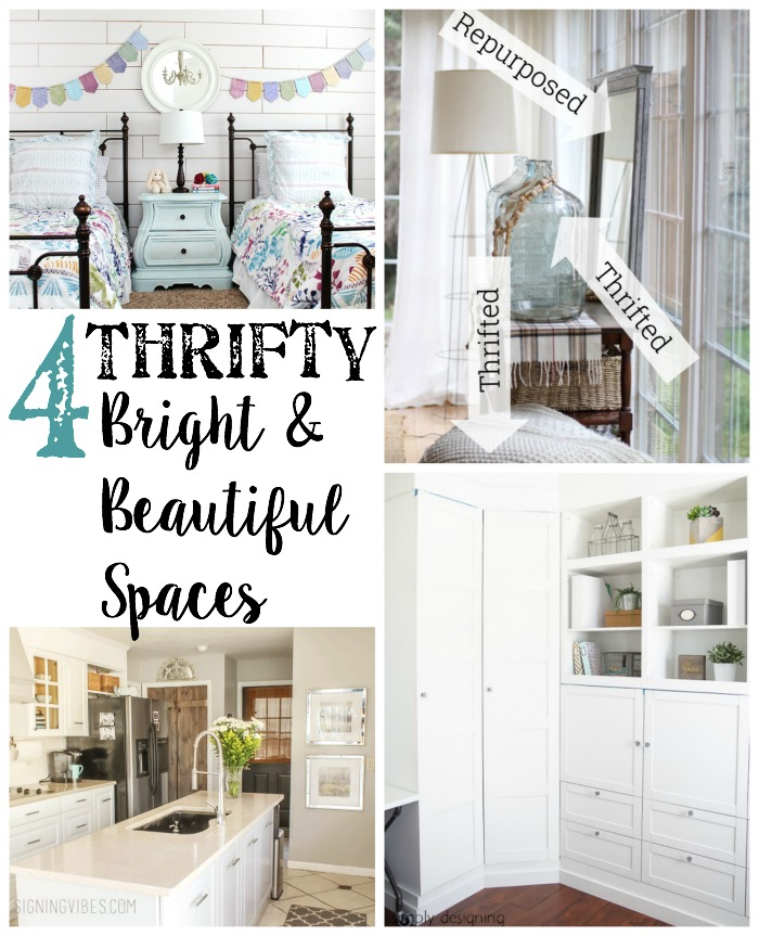 4 Thrifty bright and beautiful spaces
