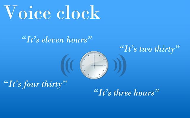 Voice Clock chrome extension