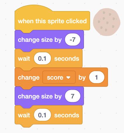Click sprite in clicker game