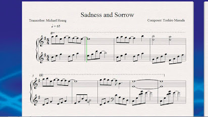 Sadness And Sorrow Free Piano Sheet Music