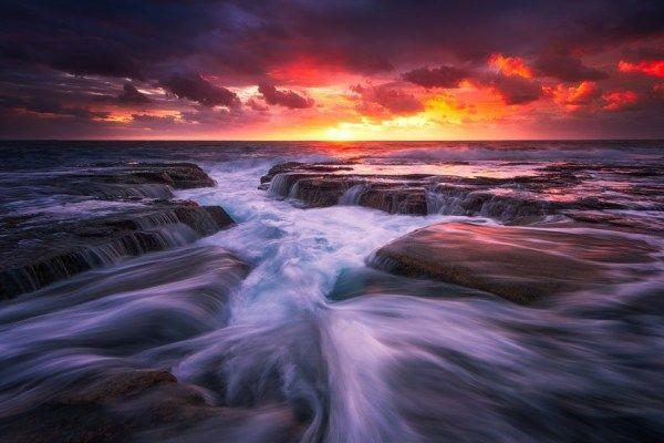 نمایش حرکت آب در طبیعت