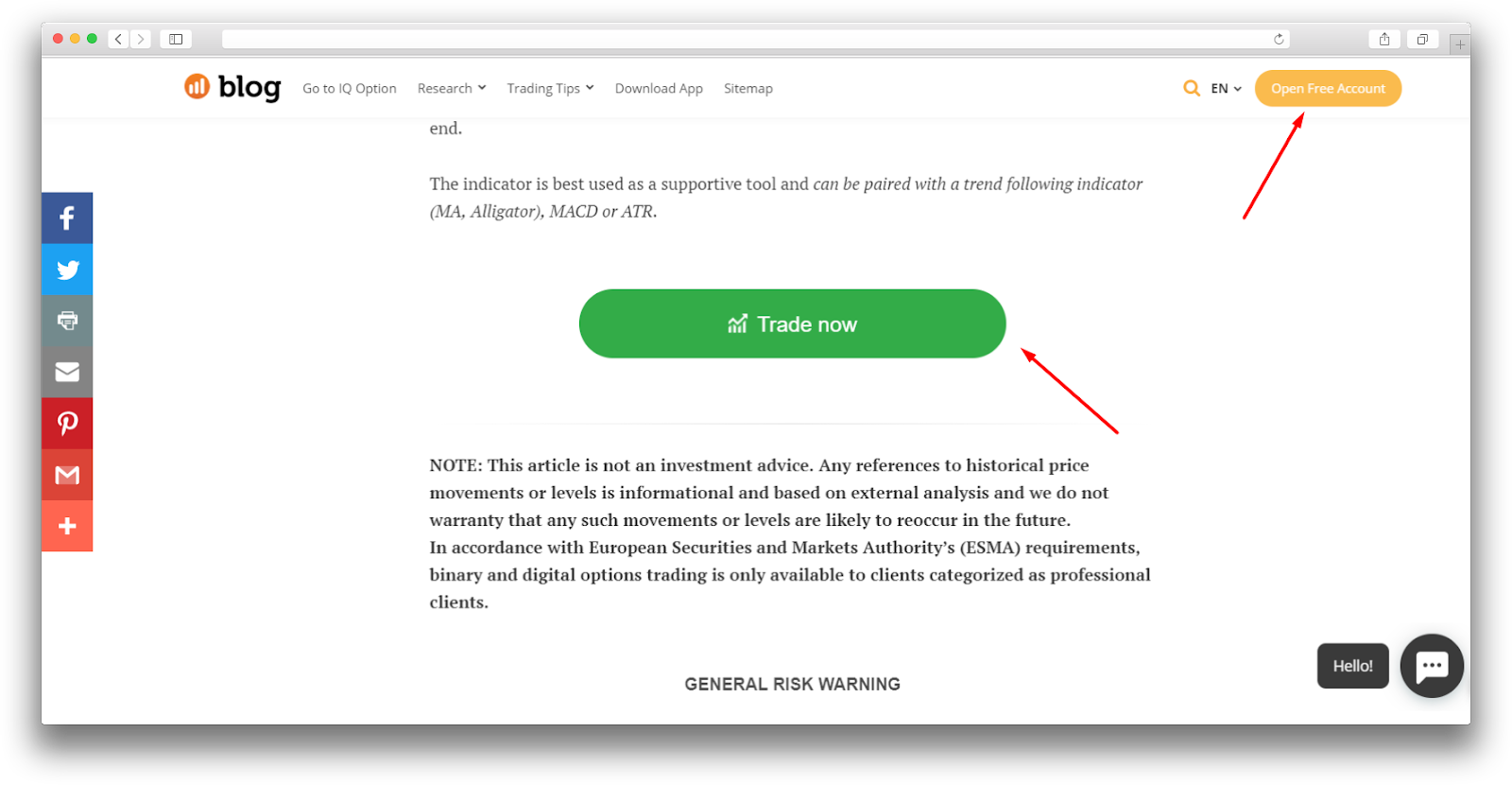 How to bring more visitors to sign up: IQ Option + Dashly