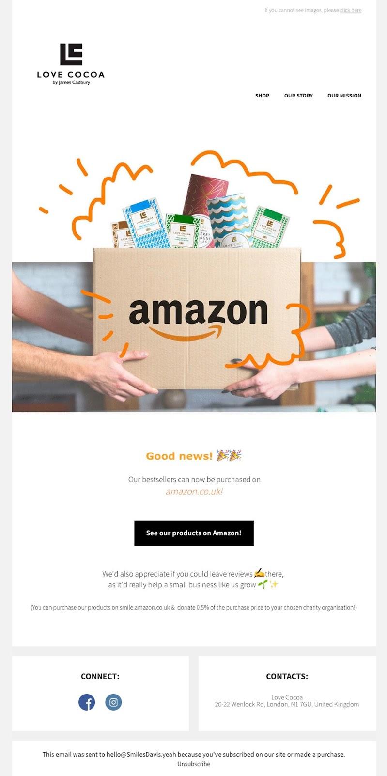 Love Cocoa's Amazon UK availability