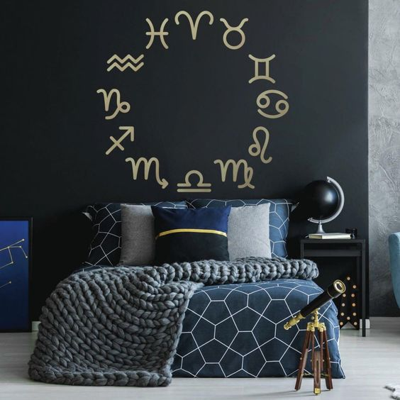 Astrology Passion Expressed Via Zodiac Signs Bedroom Decor