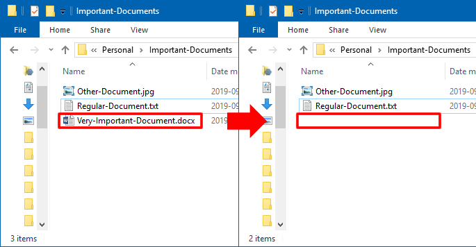 Deleted Document Example