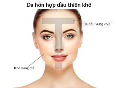 Liệu trình chăm sóc da mặt chuyên sâu đối với da hỗn hợp