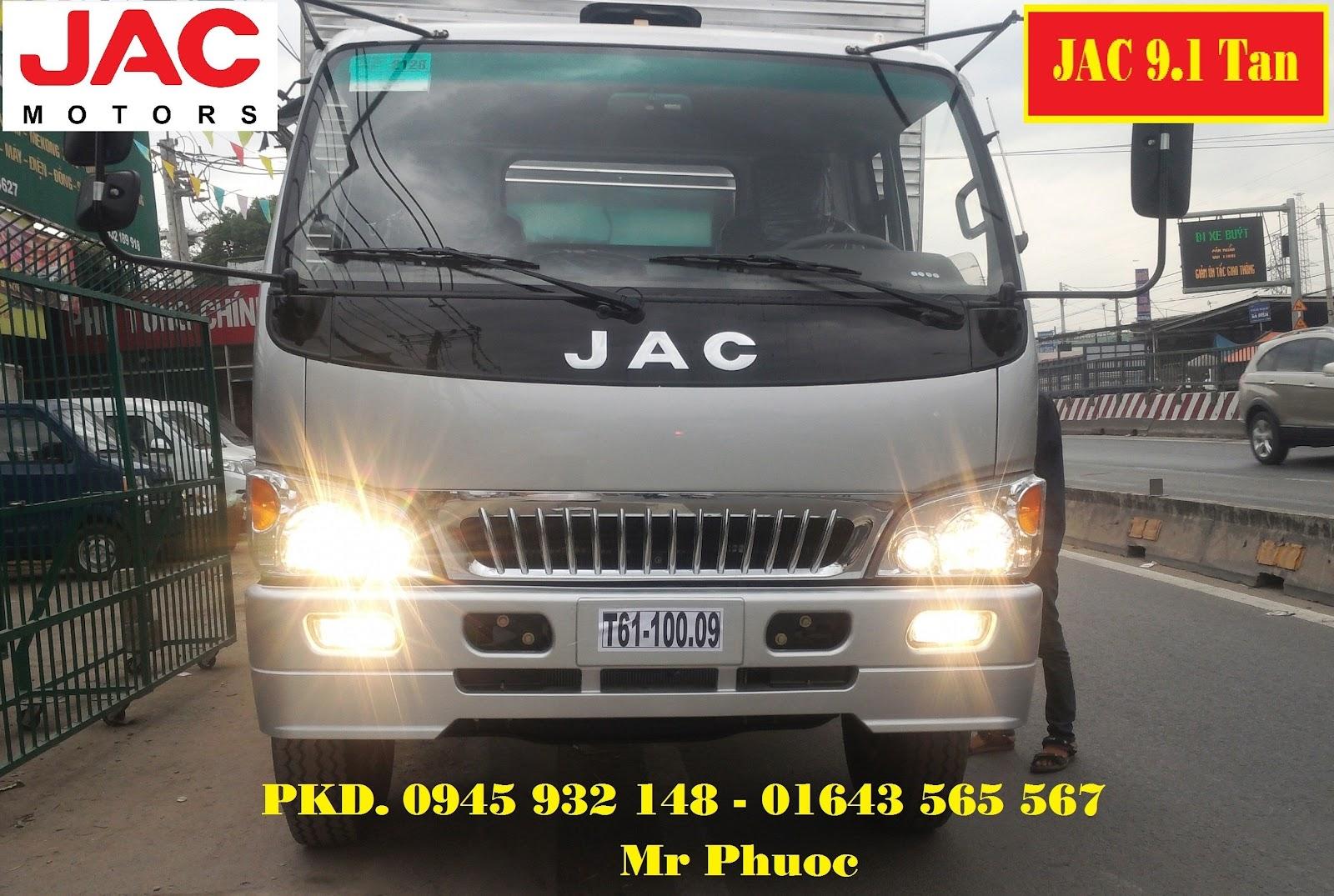 xe JAC 9.1 tấn, xe tải JAC 9T1, bán xe tải JAC 9.1 tấn mui bạt, mua xe tải JAC 9 tấn 1