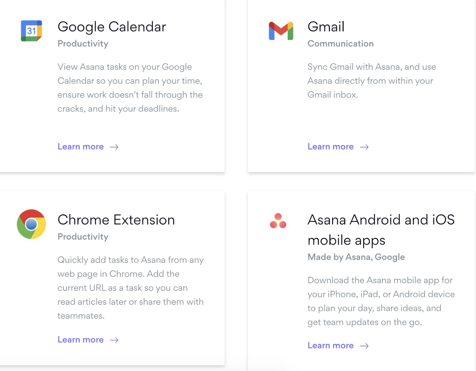 Google Apps for Asana