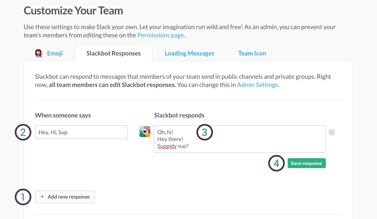 Product Customization - Slack