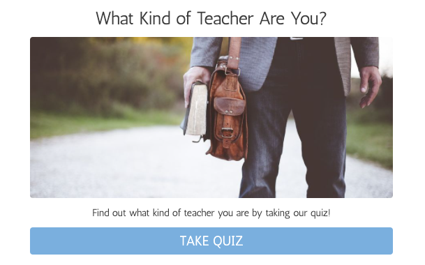 Which kind of teacher are you quiz cover