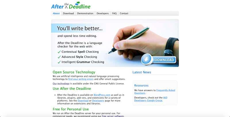 'After the Deadline' - error-free writing
