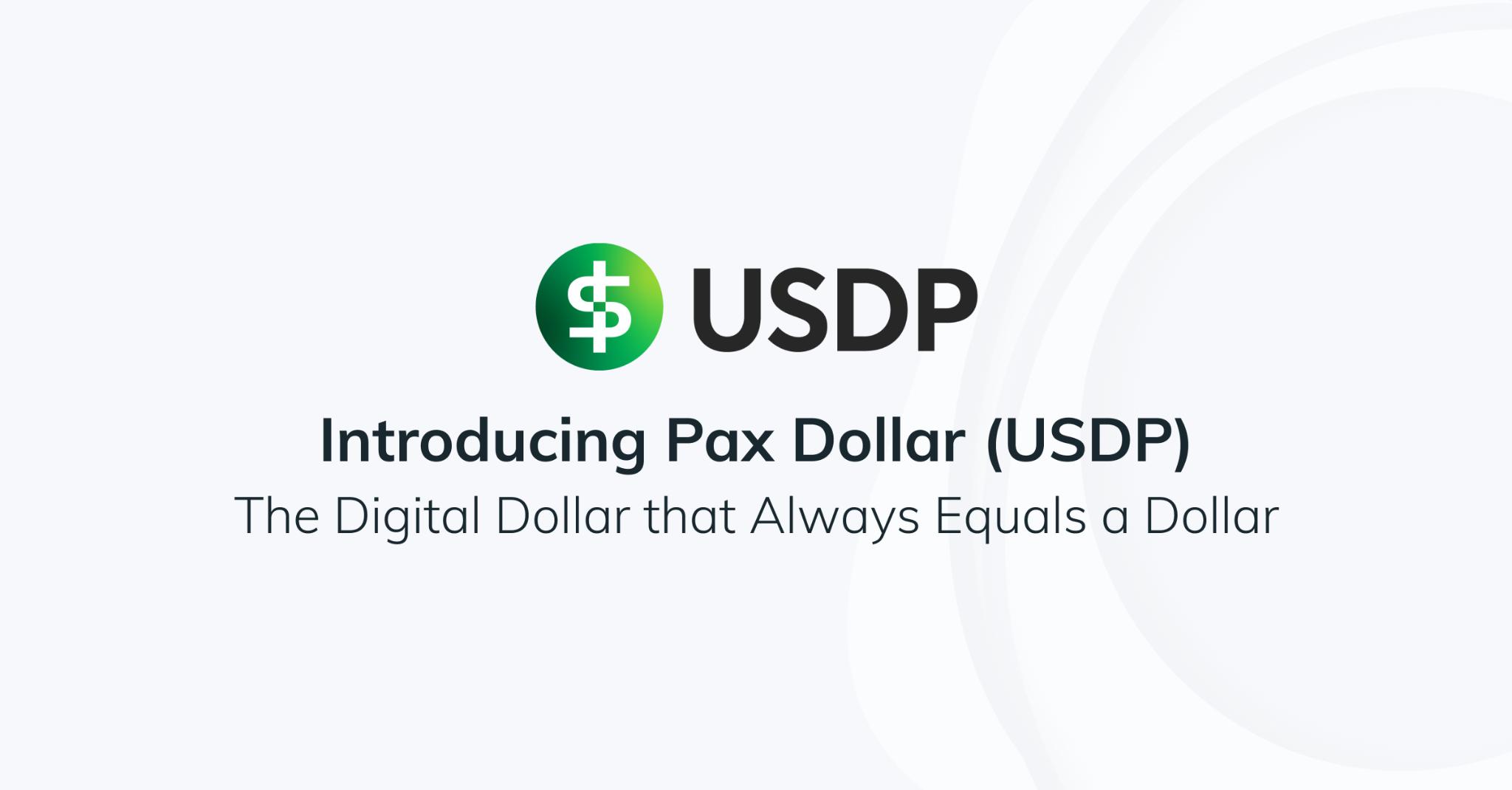 Blog Pax Dollar USDP Stablcoin