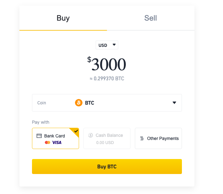 how to buy on binance using credit card