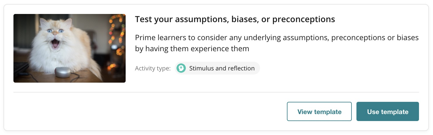 OpenLearning Page Template - Test your assumptions, biases or preceonceptions