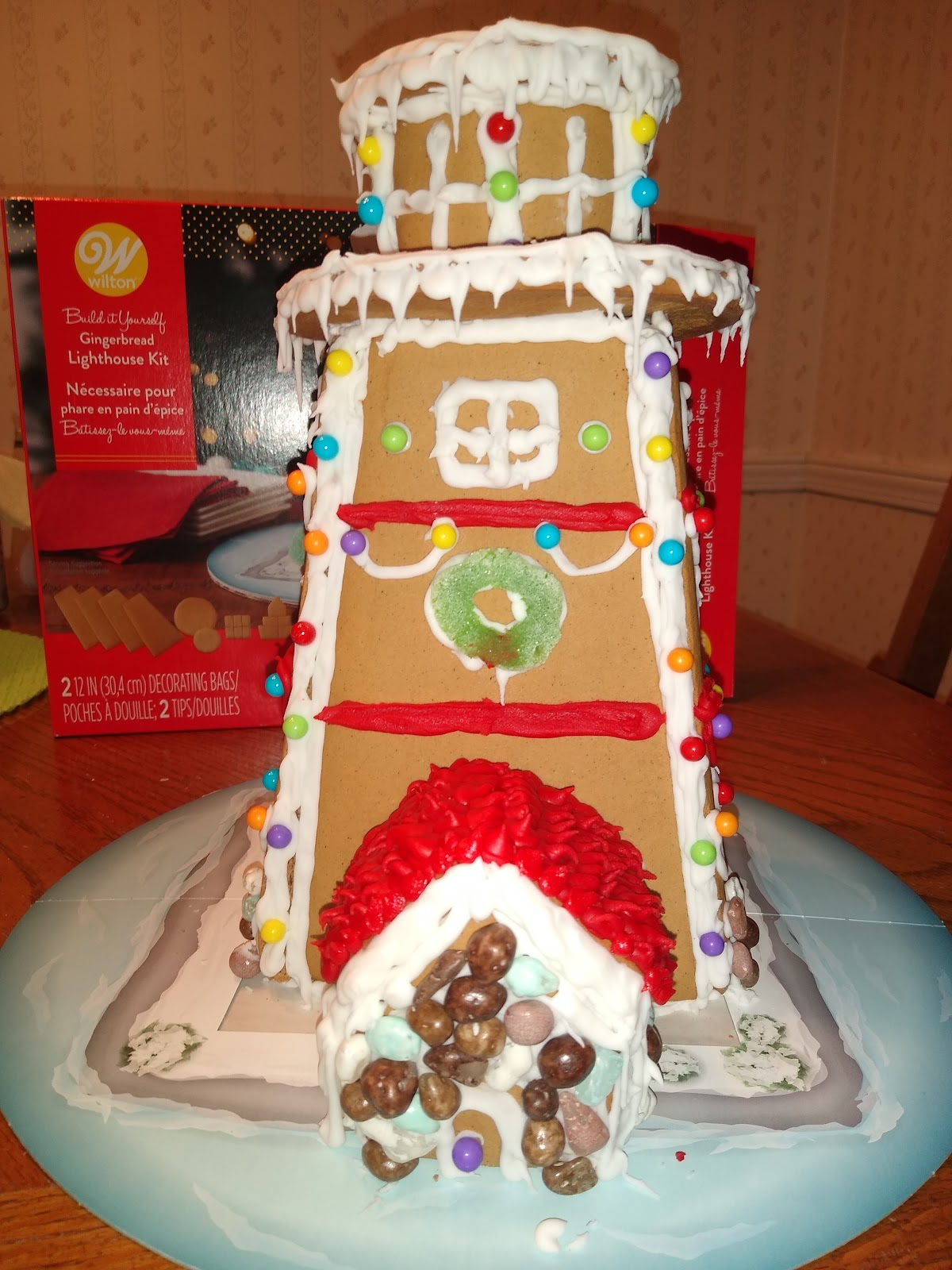 decorated gingerbread lighthouse