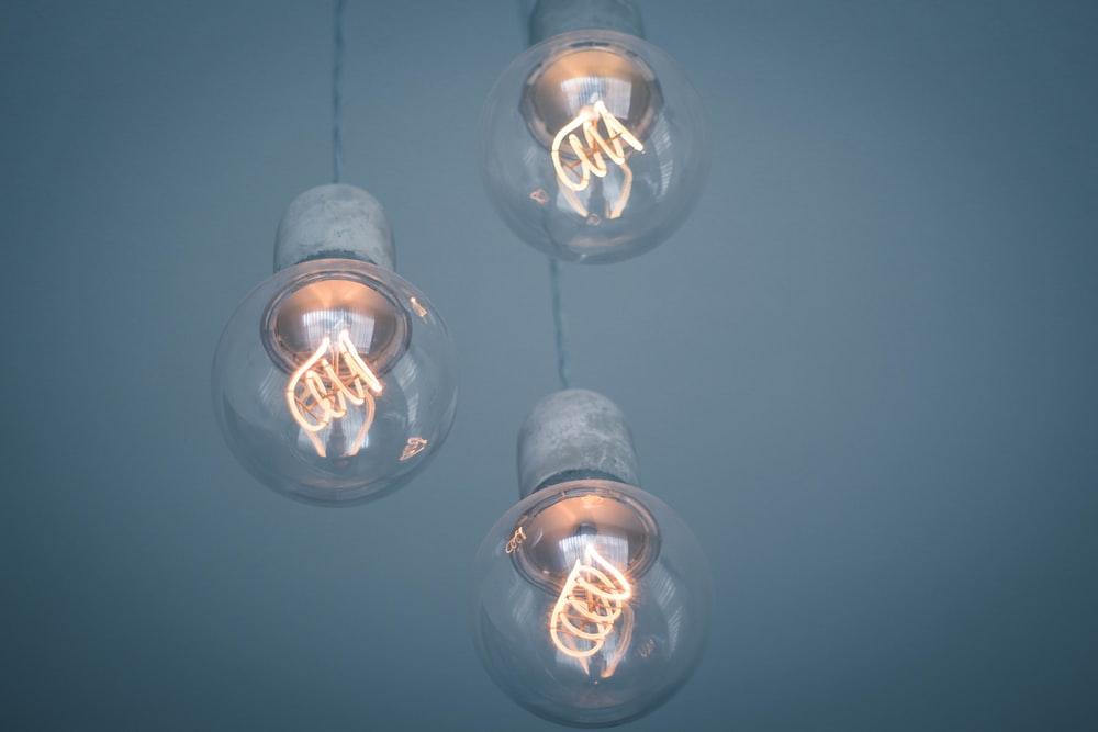 three LED pendant lamps