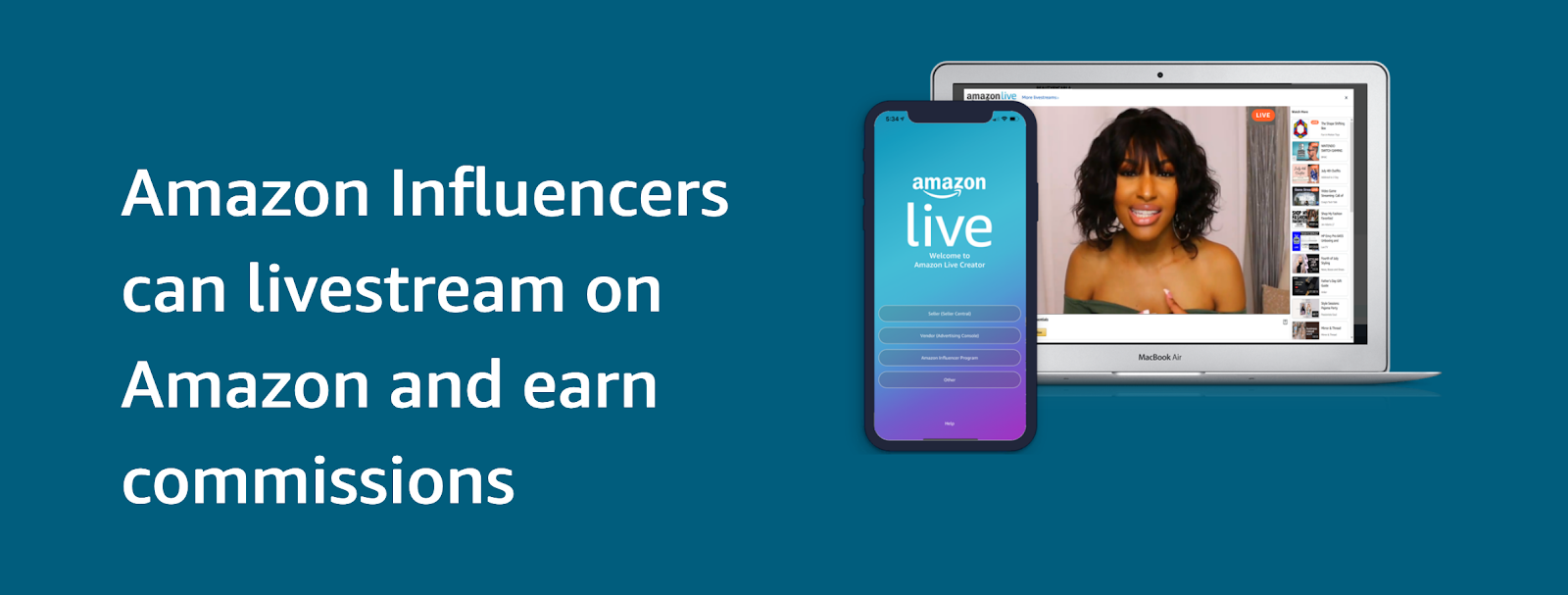 Amazon Live-Streaming for Influencers