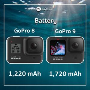 เปรียบเทียบ แบตเตอรี่ GoPro 8 vs GoPro 9