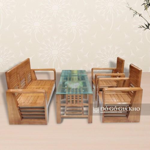 Bàn Ghế hộp gỗ Sồi Màu -   BG 016-M