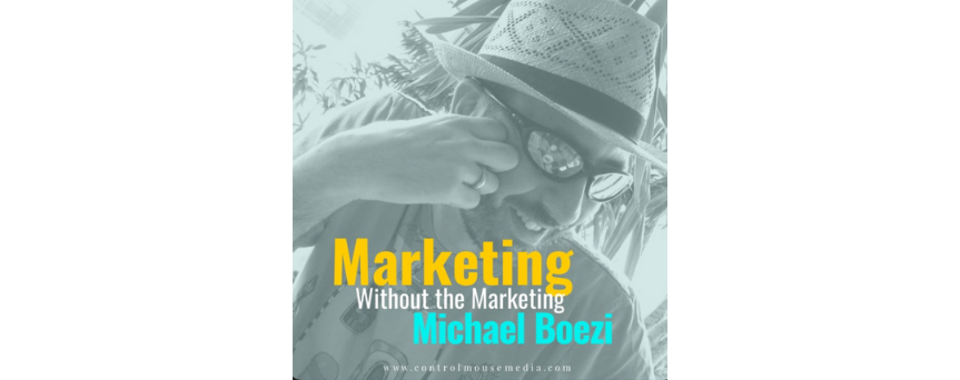 Marketing without the marketing Podcasts logo