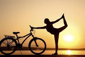 yoga pose for bicycle