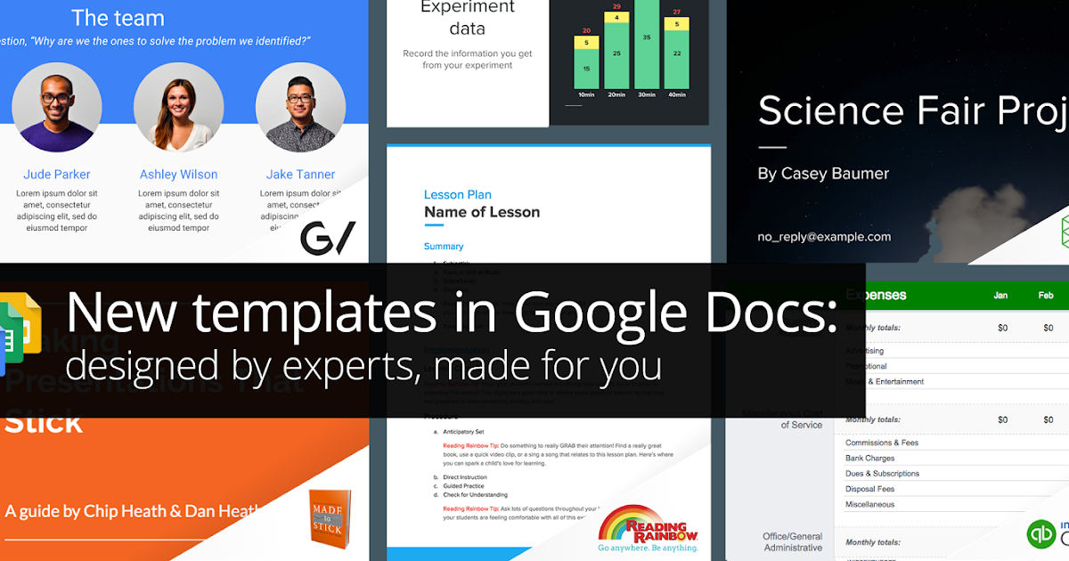 G Suite Updates Blog New Templates In Google Docs Designed By - Free google sheets templates