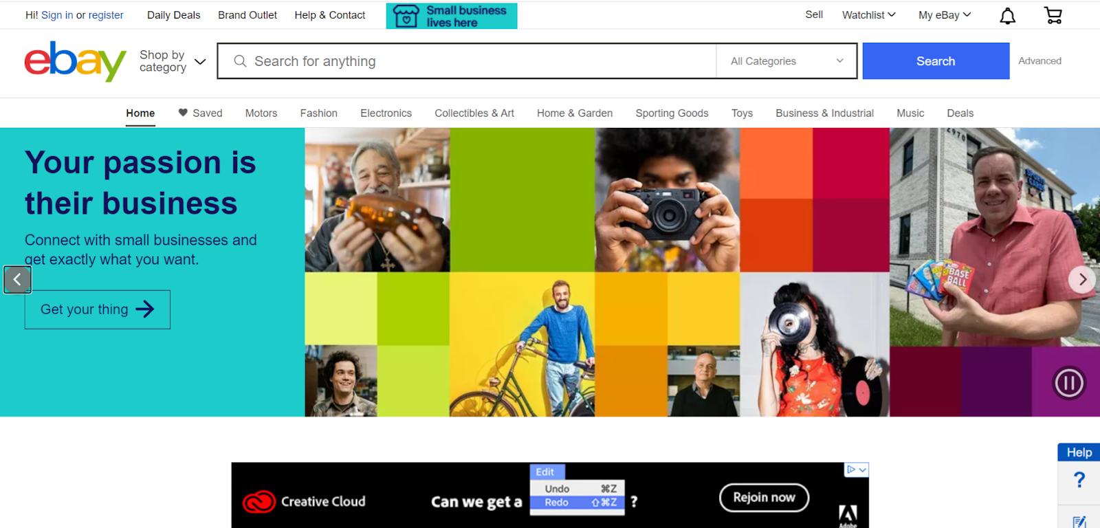 free advertising sites - eBay