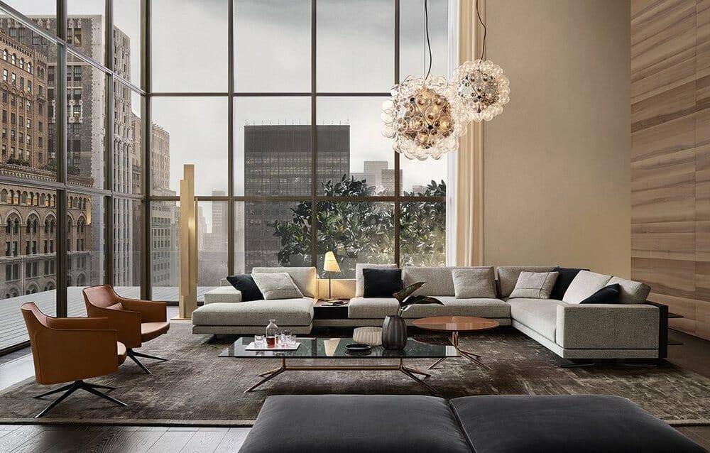 High-end living room furniture by Poliform