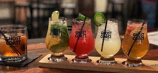 Cocktails From the Ghost Coast Distillery Cocktail Room